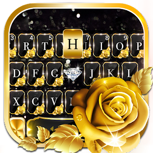 Gold Rose Lux Keyboard Theme 1.0