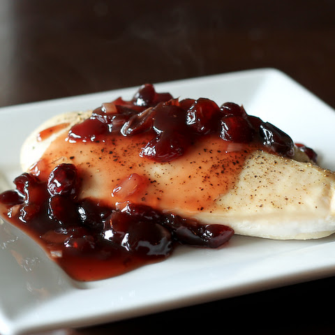 Chicken Breasts with Maple Cranberry Sauce