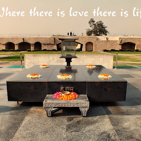 raj ghat.. by Arjun Vjy - Buildings & Architecture Public & Historical ( raj, gandhi, karam, ghat, jayanthi, mohandas, india, chandh )