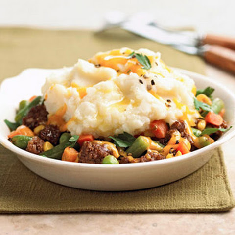 Potato Topped Beef Bowl