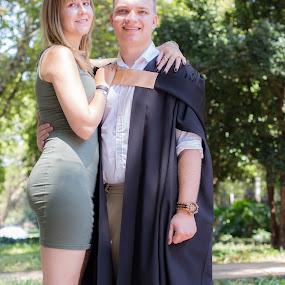 by Christopher van Heerden - People Couples ( couple, graduation )