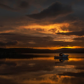 güne veda by Enver Karanfil - Landscapes Sunsets & Sunrises ( urla, sunset, sunrise )