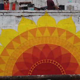 Wall Art by Vishwak Avanan - Novices Only Abstract ( art, ganges, varanasi, drawing, river )