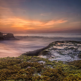 Sunset over Tegalwangi Beach, Bali by Aloysius Alphonso - Landscapes Sunsets & Sunrises