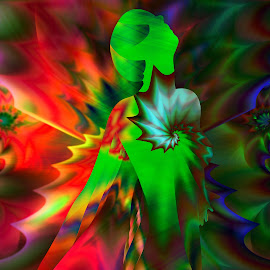 Woman abstract by Cassy 67 - Illustration Abstract & Patterns ( digital, love, modern art, harmony, art, abstract art, trippy, psyart, abstract, artwork, fractals, digital art, psychedelic, modern, light, fractal, energy )