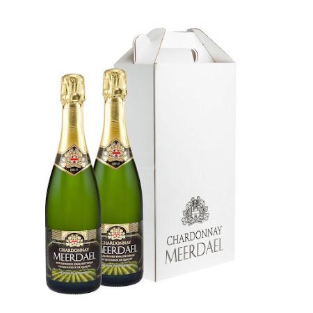 Witte geschenkverpakking Chardonnay Meerdael (2 flessen)