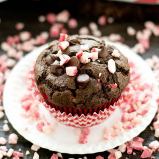 Peppermint Mocha Coffee Muffins