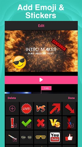 Intro Maker for Youtube - intro creator with music Screenshot