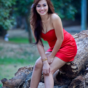 Lovely Red by Deddy Dwianto - People Portraits of Women