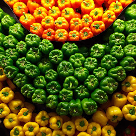 Three Tiered Peppers by Lope Piamonte Jr - Food & Drink Fruits & Vegetables