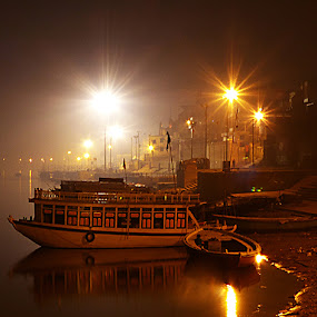 Varanasi by Dipyaman Santra - City,  Street & Park  Historic Districts