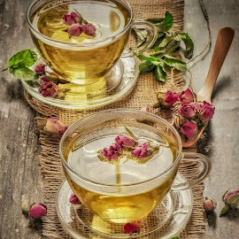 Rose tea by Fidaa Haddad - Food & Drink Alcohol & Drinks ( rose, food, drink, drunk, hot, tea )