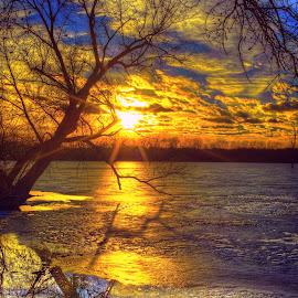 Ice Melt by DE Grabenstein - Landscapes Sunsets & Sunrises ( nebraska )