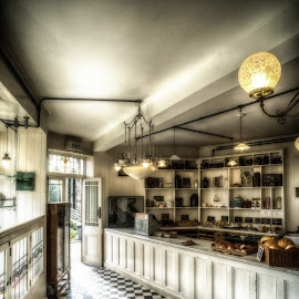 The Old Bakery Shop by Adam Lang - Buildings & Architecture Other Interior ( shop, beamish, bakery, vintage, light )