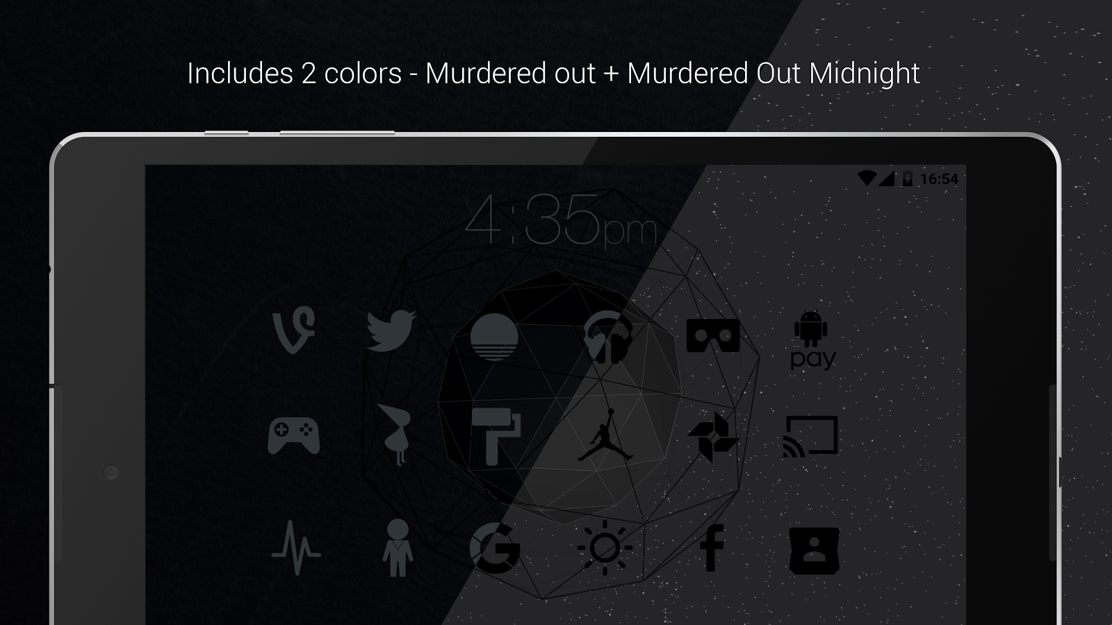 Murdered Out Pro - Dark Icons Screenshot 16