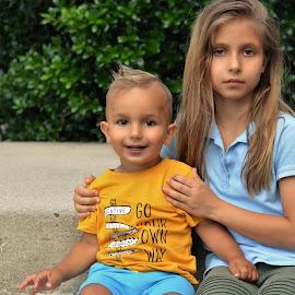 siblingsa  by Julian Markov - Babies & Children Child Portraits ( siblings, brother, sister, . )