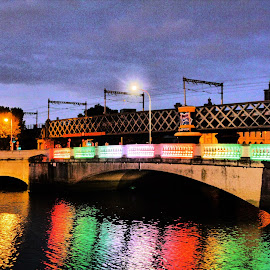 Bridge by Jimmy Fitz - Buildings & Architecture Bridges & Suspended Structures ( water, colour, equality, night time, bridges, evening, lgbt )