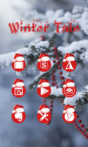 android Winter Tale - Solo Theme Screenshot 2
