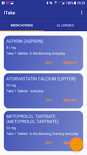 iTake Medication List screenshot for Android