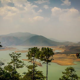 Bora pani, Shillong by Akashneel Banerjee - Instagram & Mobile Android ( nature, waterscape, trees, lake, landscape )