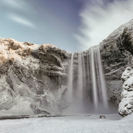 Skógafoss Waterfall by Michael Otter - Landscapes Waterscapes