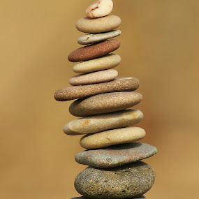 Pebble Stack by Frank Gray - Artistic Objects Other Objects ( cairns, still life, art, outdoors, stone stack, pebbles, beach, seaside, pebble stack )