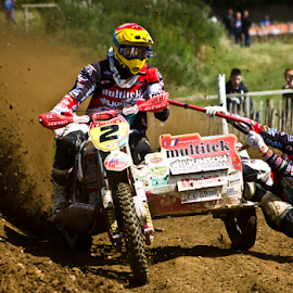 Hanging on... by Mike Ross - Sports & Fitness Motorsports ( motocross sidecar, mike ross, milton malso, sidecar, mx, acu,  )