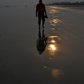 walk a mile.....leaving your footsteps behind.. by Priyam Ash - Novices Only Street & Candid