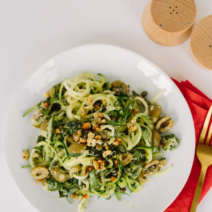 ... Linguine with Green Olive Sauce and Zesty Gluten-Free Breadcrumbs