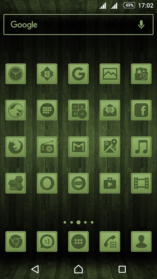 Wooden Icons Green Screenshot 0