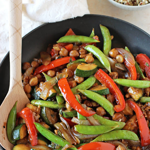 Bell Pepper, Snap Pea and Zucchini Stir-Fry