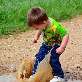 KerSplash!! by Larry Strong - Babies & Children Children Candids ( child, puddle )