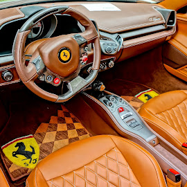 Ferrari Dash by Barbara Brock - Transportation Automobiles ( ferrari interior, luxury automobile, ferrari, italian race car interior, race car interior )