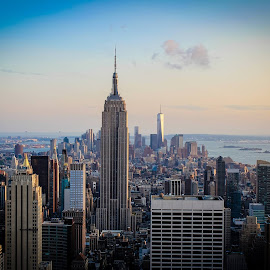 Beautiful view of Empire state building from Rockefeller Center..!!!!😃😃 by Anusha Suman - City,  Street & Park  Skylines (  )