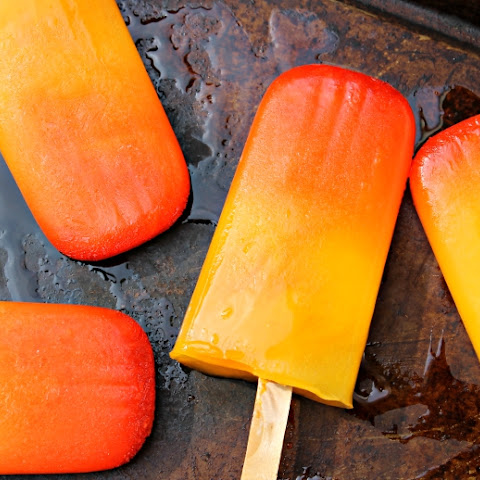 Tequila Sunrise Popsicles