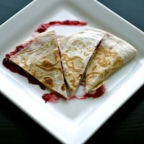 Cranberry Cream Cheese Quesadillas- Lunch Version