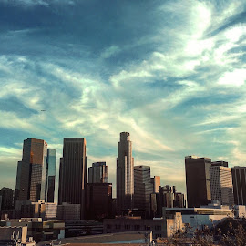 LA Clouds by Andy Chinn - Instagram & Mobile iPhone ( clouds, skyline, los angeles skyline, los angeles, cityscape )