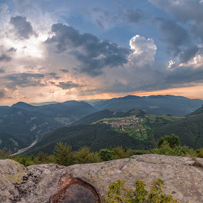 Belintash by Petar Shipchanov - Landscapes Mountains & Hills ( highland, clouds, sky, mountain, sunset, sanctuary, bush, rhodopes, forest, rhodopes mountain, landscape )