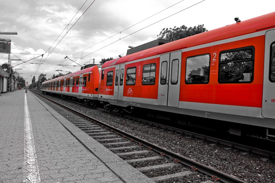 The Red Train by Jason Mortel - Transportation Trains