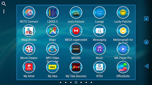 Layers Blue Xperien Theme - screenshot