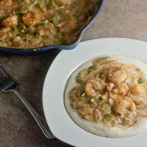 Shrimp and Grits with Creole Cream Sauce