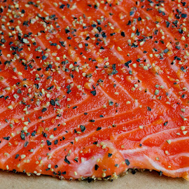Wild Caught Sockeye Salmon by Marc Hunter - Food & Drink Meats & Cheeses ( sockeye, salmon, wild caught, smoke )