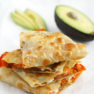 Roasted Sweet Potato and Bean Quesadillas.