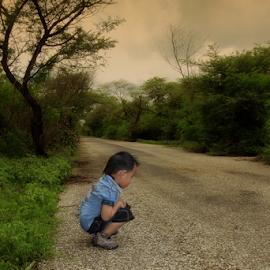 Alone by Ronny W Tanjung - Babies & Children Children Candids