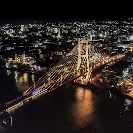 Soekarno Bridge by Irfan Firdaus - City,  Street & Park  Street Scenes ( travel photography, cityscape, bridge, low light, slow shutter )