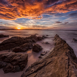 Afternoon Light by Steve Badger - Landscapes Sunsets & Sunrises ( queensland, gold coast, sunset, kirra, australia )