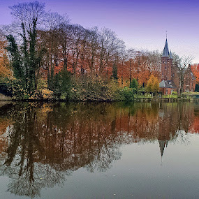 Reflections on Brugge by Ioannis Alexander - Landscapes Waterscapes ( autumn, waterscape, reflections,  )