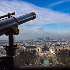 Paris from the Eiffel Tower by Graciela Fernández González - City,  Street & Park  Vistas