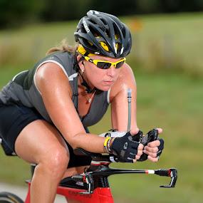 Race to the Finish by Jim O'Neill - Sports & Fitness Cycling ( bike rally, cyclist, cycling, texas, sports, btx, women cyclist )