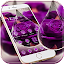 APK App Water Drop Rose Purple Theme for BB, BlackBerry